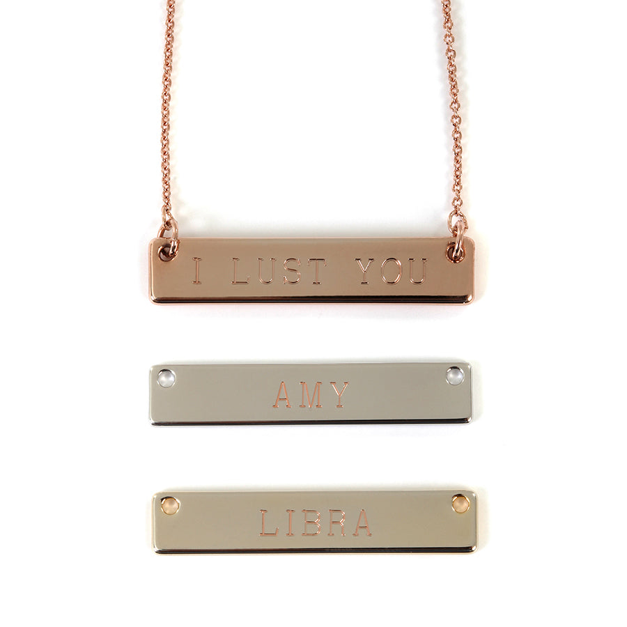 Goldlust LDN Personalised Bar Necklace