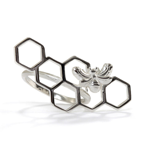 Goldlust LDN Beehive Ring in 925 Sterling Silver