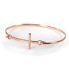 Goldlust LDN Cross Bracelet in Rose Gold