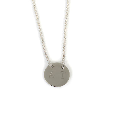 Goldlust LDN Personalised Disc Necklace in 925 Sterling Silver