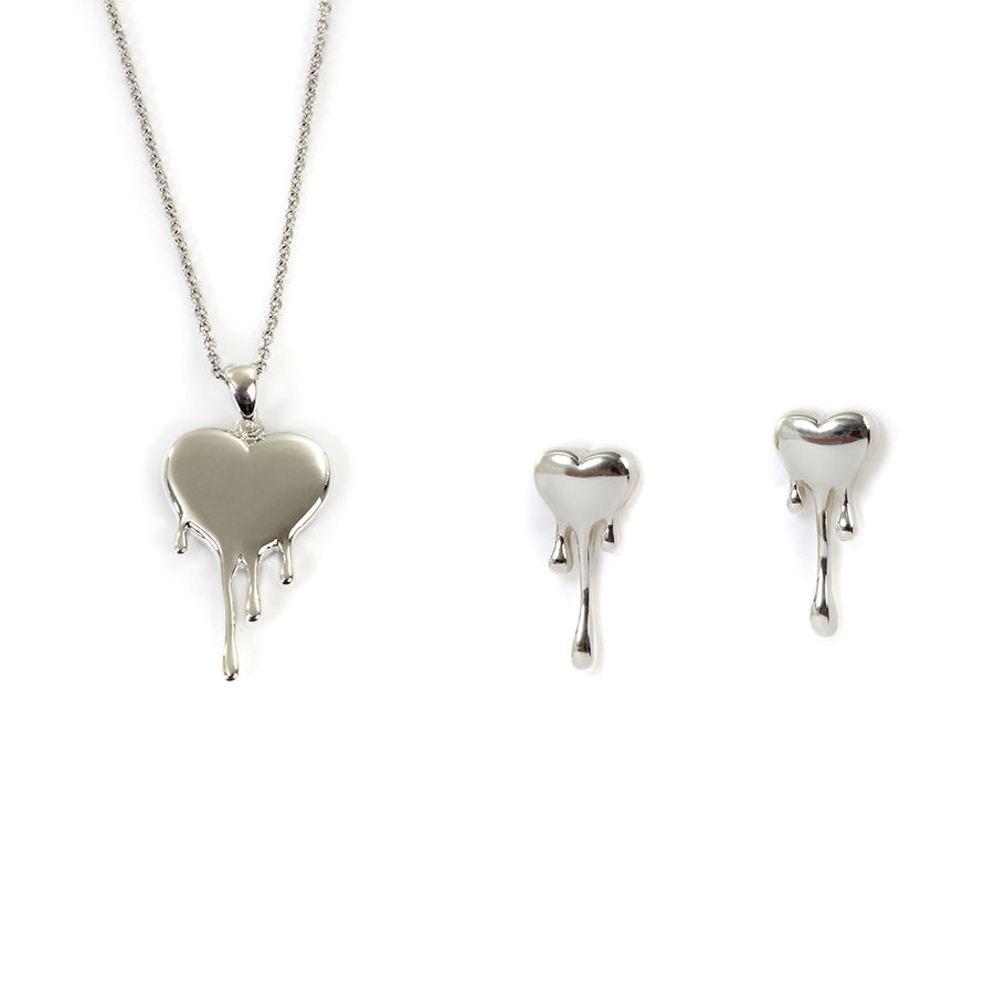 Goldlust LDN Heart Necklace and Earrings Jewellery Set