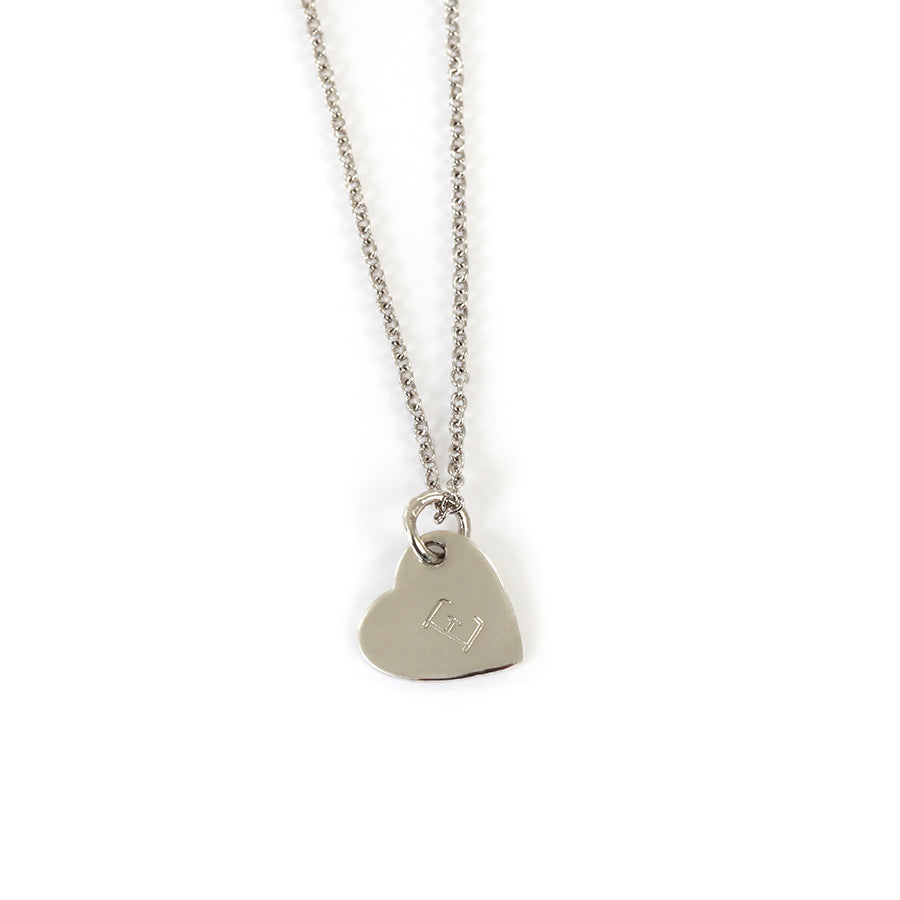 Goldlust LDN Personalised Young Heart Necklace in 925 Sterling Silver