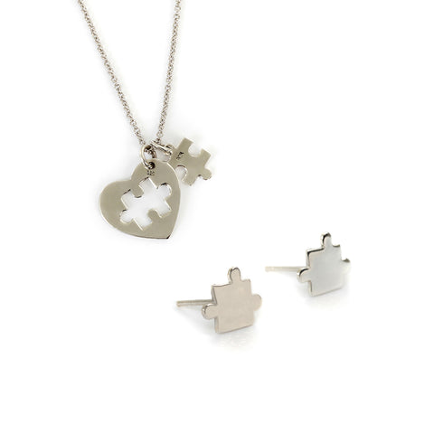 Goldlust LDN Jigsaw Necklace and Earrings Set