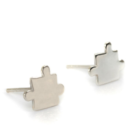 Goldlust LDN Jigsaw Earrings in 925 Sterling Silver
