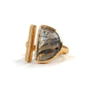 Goldlust LDN Labradorite Parallel Ring in 18k Gold
