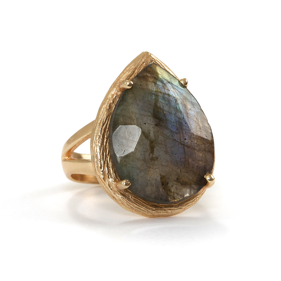 Goldlust LDN Labradorite Ring in 18k Gold