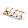 Goldlust London Lust Brooch in 925 Sterling Silver with Rose Gold Plating
