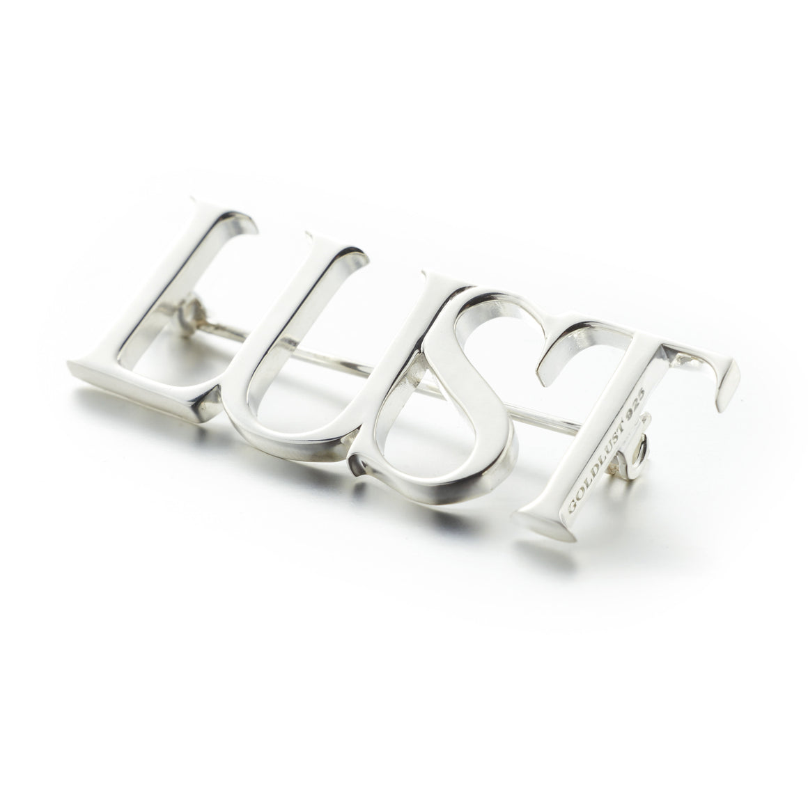 Goldlust London Lust Brooch in 925 Sterling Silver