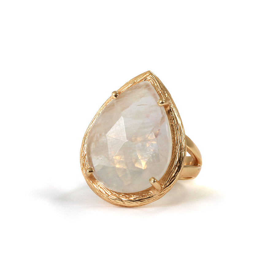 Goldlust LDN Rainbow Moonstone Ring in 18k Gold