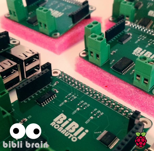 BiBli Brain for Raspberry Pi 3 - Robot Swarm Shield