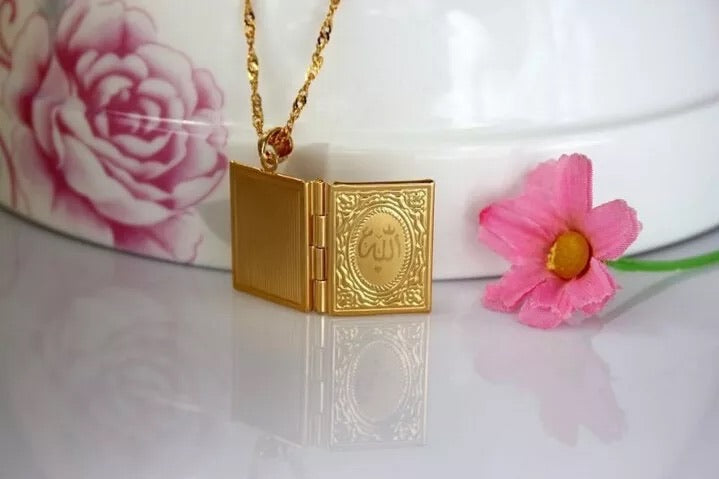 Mini book locket Allah