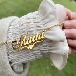 Name necklaces with heart design