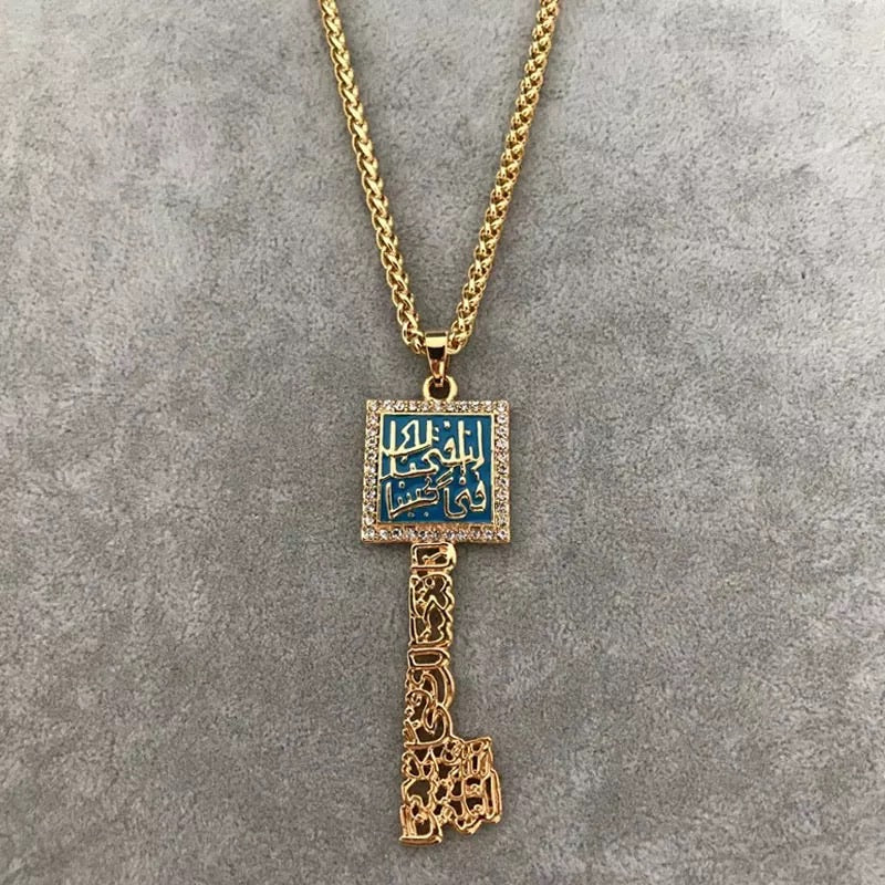 Arabic Calligraphy key shape pendant