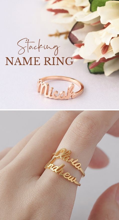 Signature name ring