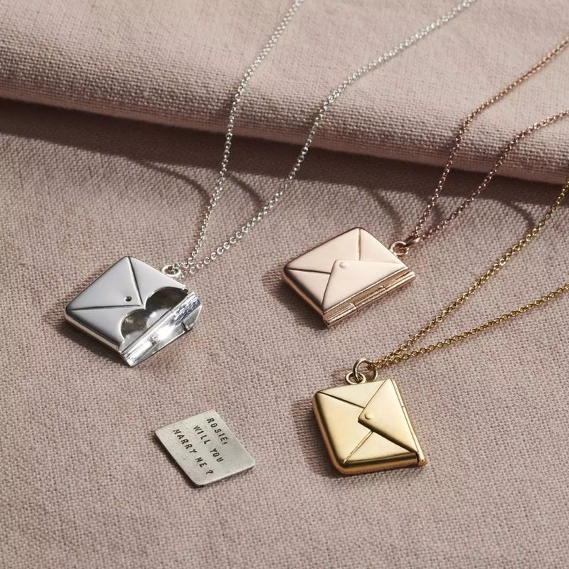 You've got mail message necklace sterling silver pendant