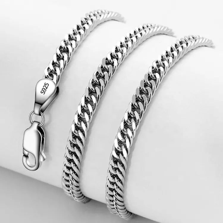 925 sterling silver chain necklace for men & women