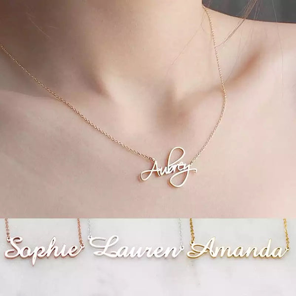 925 sterling silver name necklace in English or Arabic