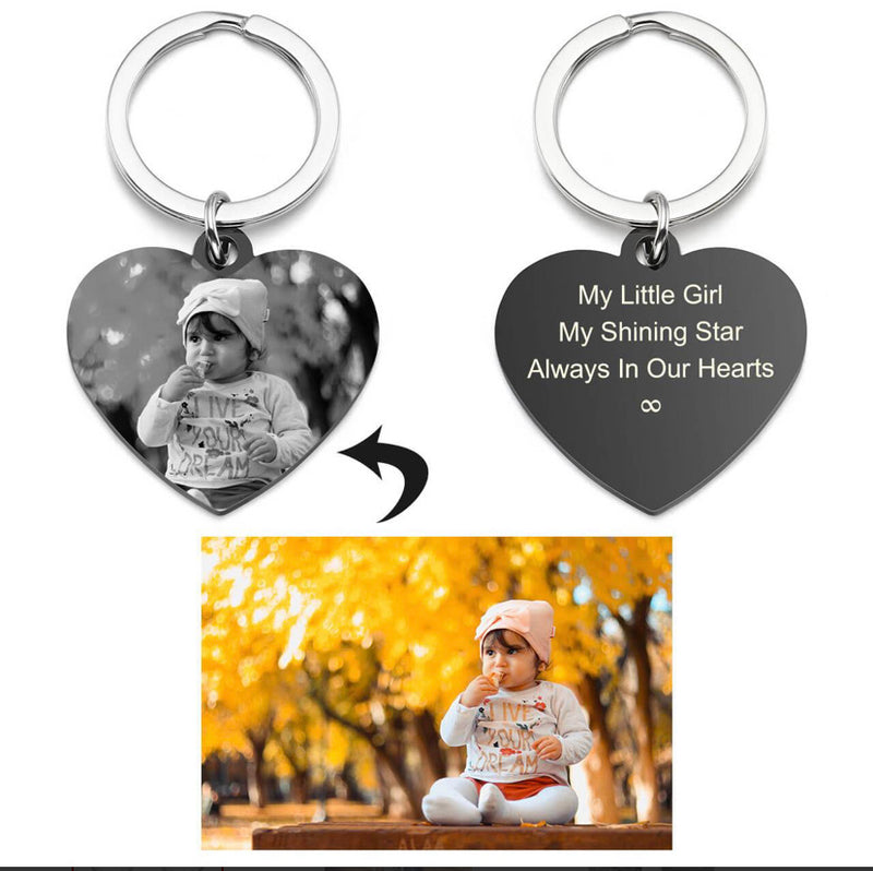 Custom photo keychain with engraving
