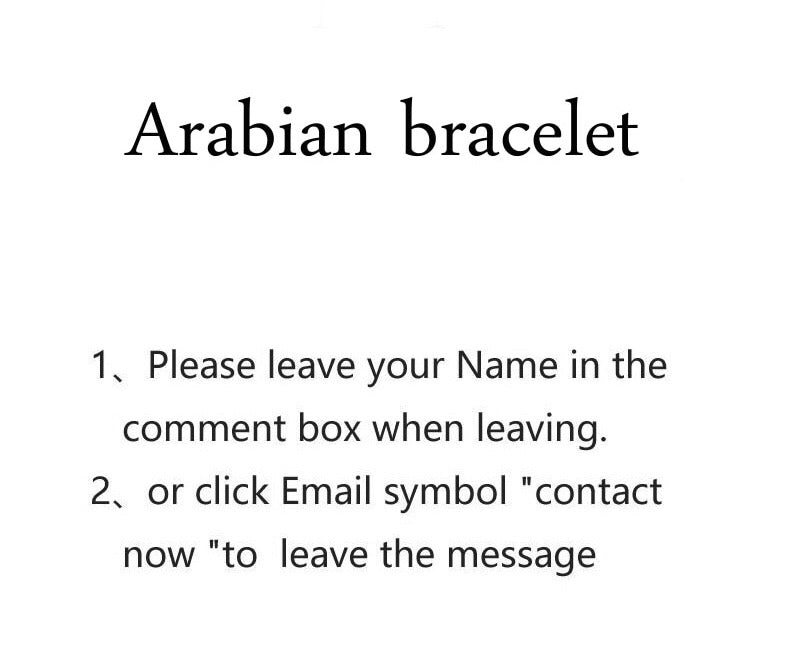Arabic or English bracelet cuff