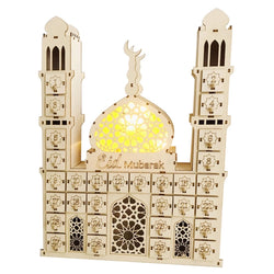 Ramadan wooden Advent countdown mosque calendar