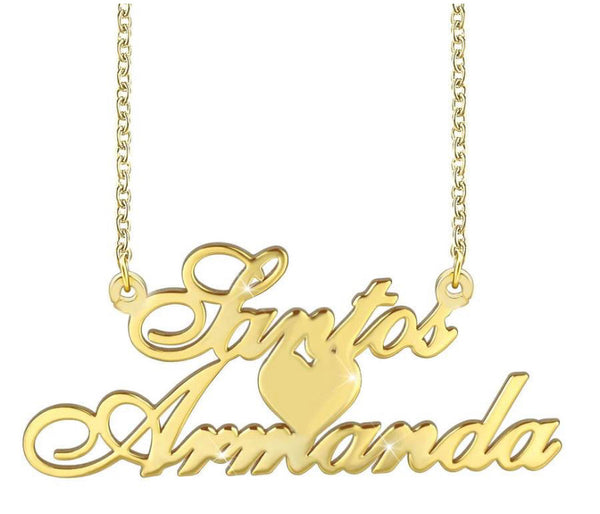 Double name necklace customized