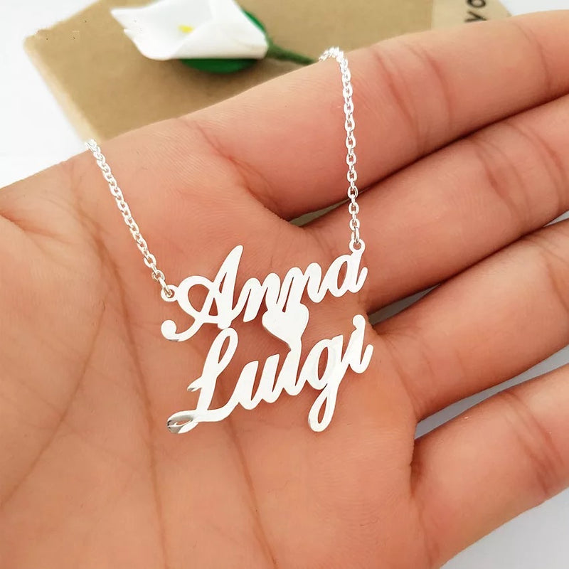 Heart name necklace collection