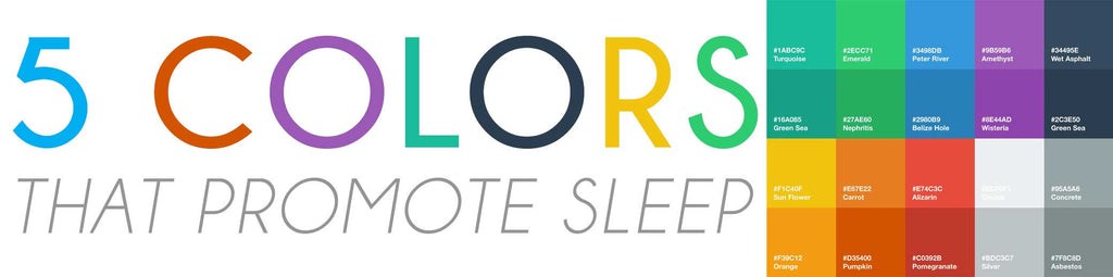 5 COLORS THAT PROMOTE SLEEP