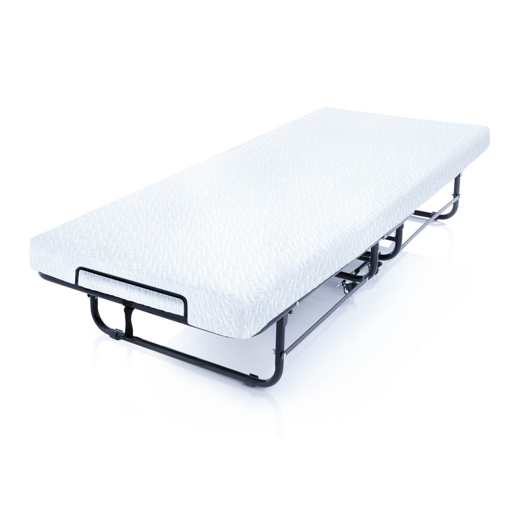 Rollaway Folding Guest Bed with Gel Memory Foam Mattress