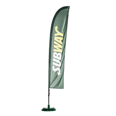 3.4m x 0.8m Blade Feather Flag - Flag - UK Banner Printing - 2