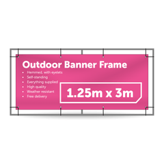 1.25m x 3m Outdoor Banner Frame - Outdoor Banner Stand - UK Banner Printing - 1