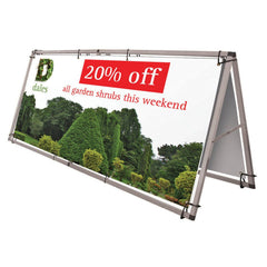 1.25m x 3m Outdoor Banner Frame - Outdoor Banner Stand - UK Banner Printing - 3