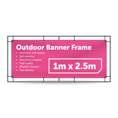 1m x 2.5m Outdoor Banner Frame - Outdoor Banner Stand - UK Banner Printing - 1