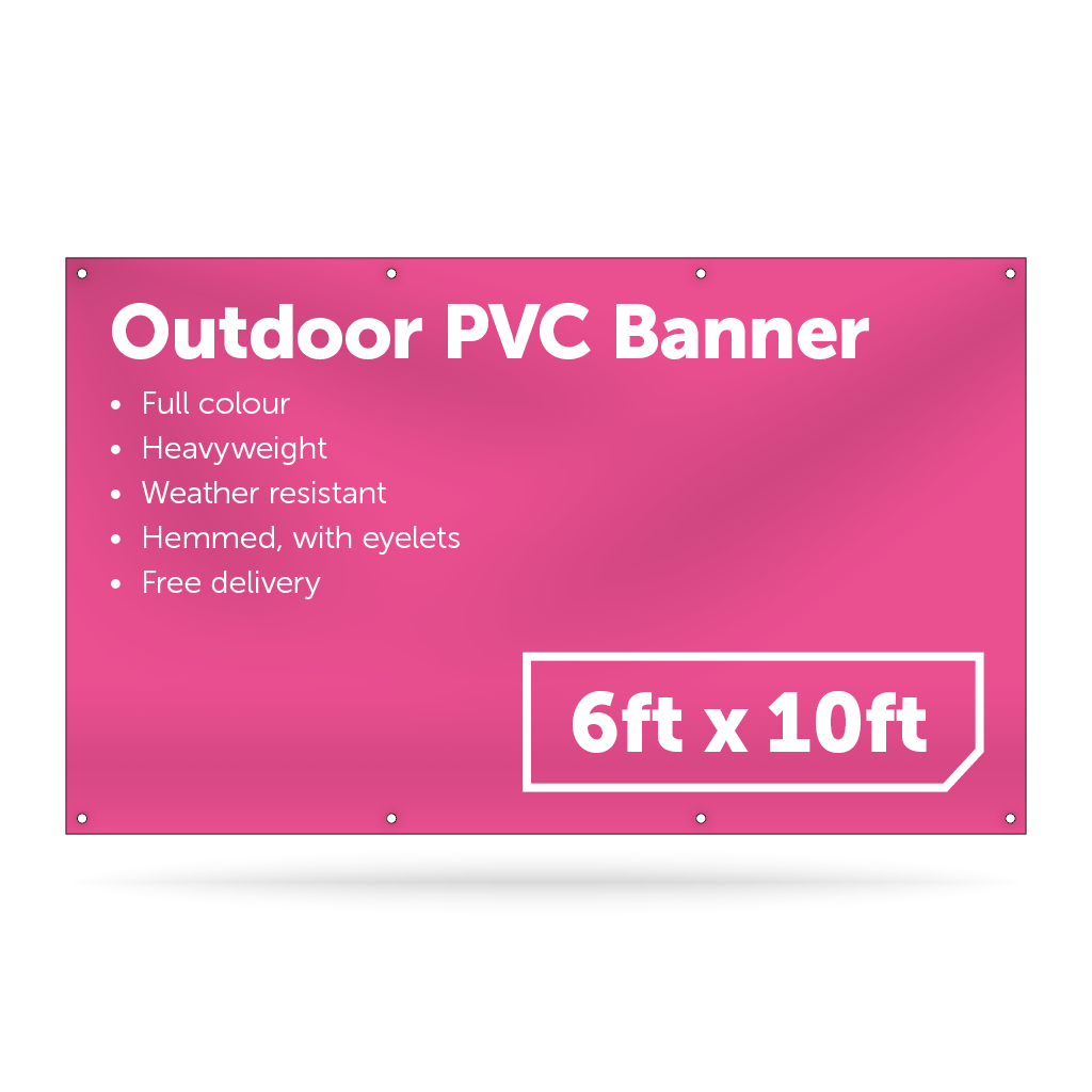 6ft x 10ft Outdoor PVC Banner - Outdoor PVC Banner - UK Banner Printing - 1