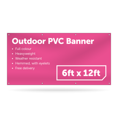 6ft x 12ft Outdoor PVC Banner - Outdoor PVC Banner - UK Banner Printing - 1