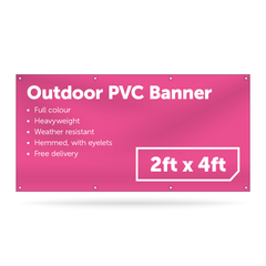2ft x 4ft Outdoor PVC Banner - Outdoor PVC Banner - UK Banner Printing - 1