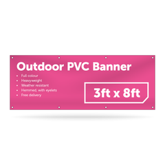3ft x 8ft Outdoor PVC Banner - Outdoor PVC Banner - UK Banner Printing - 1