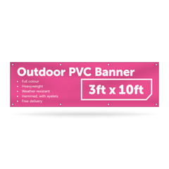 3ft x 10ft Outdoor PVC Banner - Outdoor PVC Banner - UK Banner Printing - 1