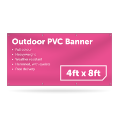 4ft x 8ft Outdoor PVC Banner - Outdoor PVC Banner - UK Banner Printing - 1