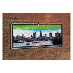 1.25m x 3m Wall Mounted Banner - Outdoor Banner Stand - UK Banner Printing - 2