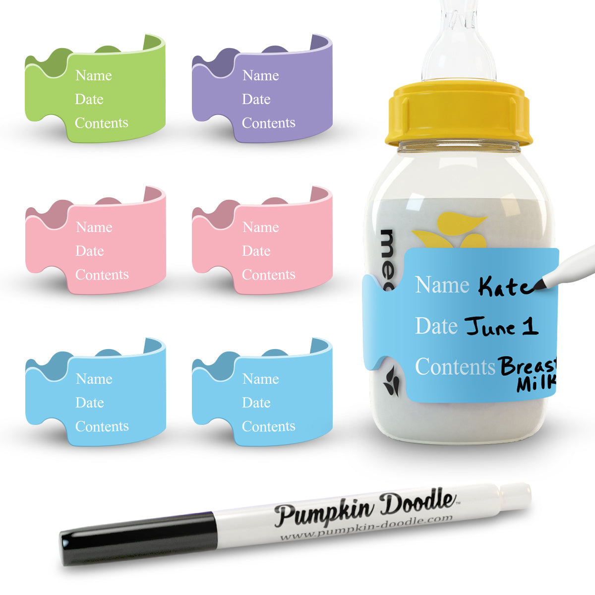 The Original Write & Erase - Baby Bottle Labels