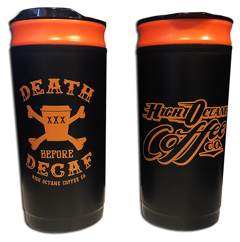 *NEW* Death Before Decaf - French Press Travel Mug
