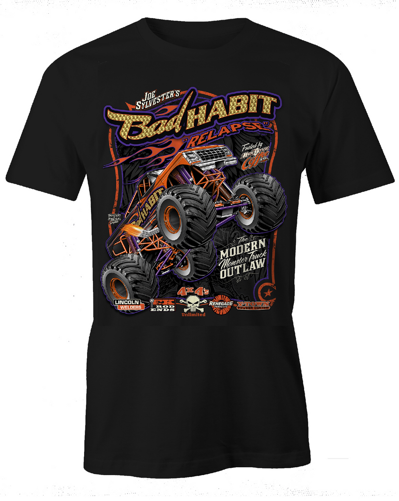 YOUTH BAD HABIT MONSTER TRUCK T-SHIRT