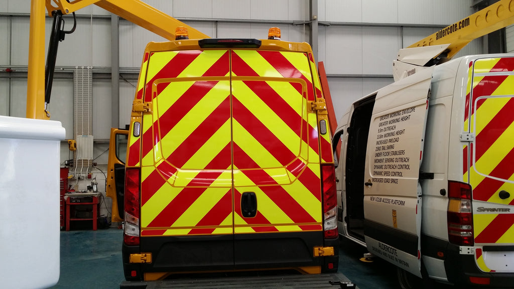 Van With Chapter 8 Compliant Chevrons