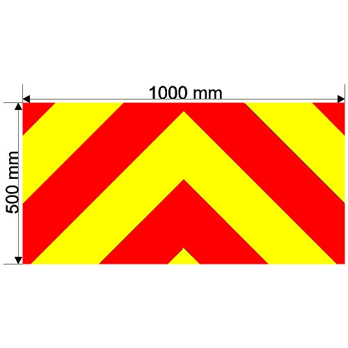 Custom Chevron 1000mm x 500mm