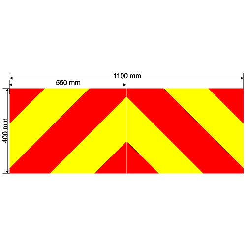 Custom Chevron 1100mm x 400mm