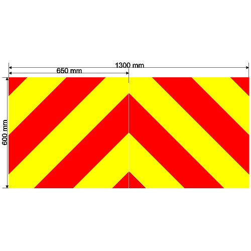 Custom Chevron 1300mm x 600mm