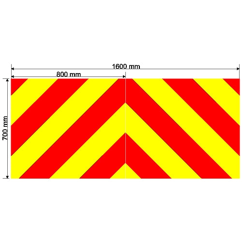 Custom Chevron 1600mm x 700mm