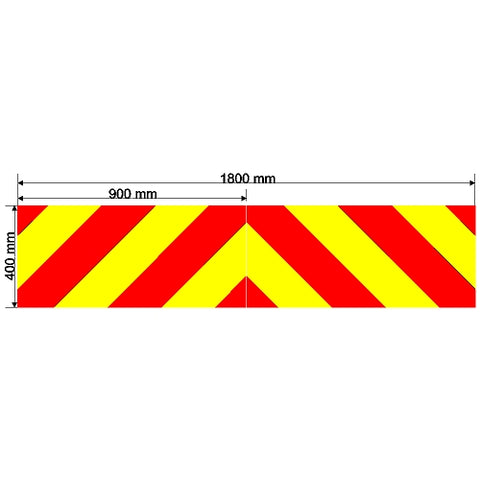 Custom Chevron 1800mm x 400mm