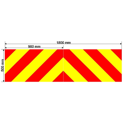 Custom Chevron 1800mm x 500mm
