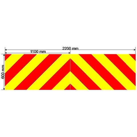 Custom Chevron 2200mm x 600mm